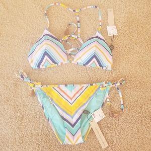 NWT! Nanette Lepore Size M Multi Color Bikini